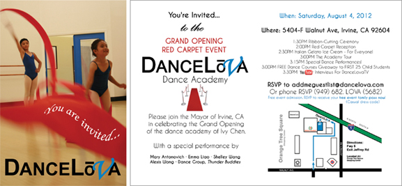 DanceLova Grand Opening Red Carpet 2012