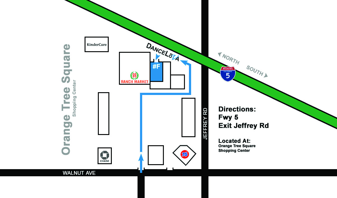 Irvine Dance Studio Map