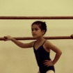 "Diligent ""Blue"" Student Focuses On Her Ballet Technique"