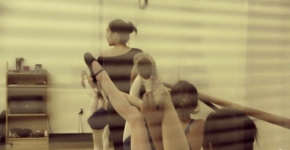 Young Ballerinas All Strive To Increase Their Flexibility
